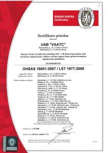 OHSAS 18001 priedas